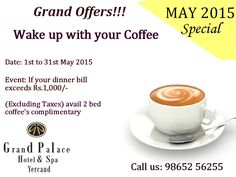 Enjoy this summer with #Grand #Palace #Hotel and #Spa Exciting Offers! For Booking : 98652 56255 / 99655 56255