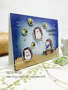 Happy Hedgehogs - MFT. Card by Nicky Noo Cards #nickynoocards