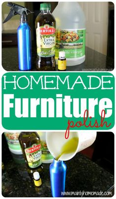 Homemade Furniture Polish. Tons of homemade cleaning products you can make at home on this site. Save money and green your home.