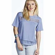 boohoo Crochet Trim Shell Top - blue azz14153 Make your top a talking point with textures - think brocades, quilting and fluffy-feel. Jersey kinda gal? Shake it up with shapes. Crop tops get cutting edge in boxy, boyfriend fit shapes and shell to http://www.comparestoreprices.co.uk/womens-clothes/boohoo-crochet-trim-shell-top--blue-azz14153.asp