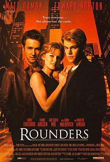 """""""Rounders"""". La mejor película sobre el mundo del poker que se ha hecho nunca, y de momento aún no superada. Con Edward Norton y Matt Dammon!"""