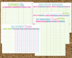 INSTANT DOWNLOAD Finance Organizer Set-Budget and Bill Pay Printables- 24 Documents. $12.00, via Etsy.