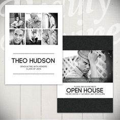 Modern Senior Announcement Card Template By Laurie Cosgrove