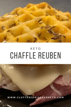 A classic deli staple, the reuben sandwich is given a keto twist by using a simple modification to the basic chaffle recipe to create a rye sandwich bread! Low Carb Keto, Low Carb Recipes, Diet Recipes, Waffle Recipes, Diabetes Recipes, Microwave Recipes, Cure Diabetes Naturally, Waffle Iron, Amigurumi