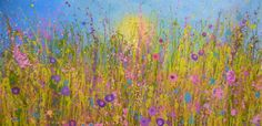 'Sweet lavender days' by Yvonne Coomber (100x50cms, mixed media on canvas), £1210, available now at http://www.lyndhurstgallery.co.uk/gallery_exhib.asp?id=102