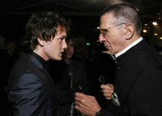 Anton Yelchin and Leonard Nimoy at the 2009 'Star Trek' premiere