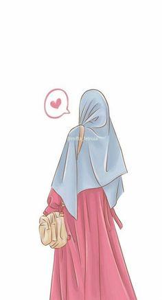 İslamic anime ve tesettür dresses muslim niqab Photo Islam, Girl Cartoon, Cartoon Art, Hijab Drawing, Islamic Cartoon, Cute App, Anime Muslim, Hijab Cartoon, Islamic Girl