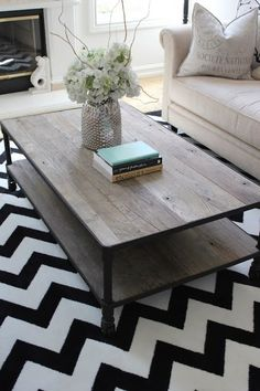 Suzie: Belmont Design Group - Eclectic living room design with white & black zigzag chevron ...