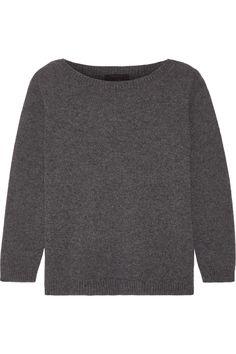 Dark-gray cashmere Slips on 100% cashmere Hand wash