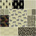 Tiger Plant Fat Quarter Bundle in Midnight