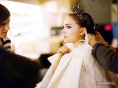Black Swan - Behind the scenes photo of Natalie Portman & Laura Mulleavy