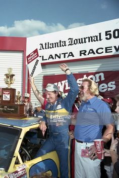 Another Victory Lane celebration with Unocal's Bill Brodrick