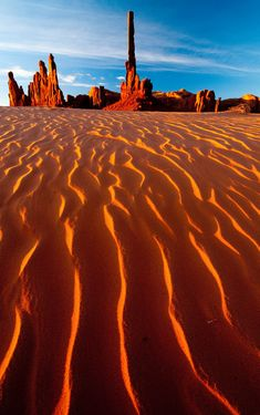 Totem Pole Dunes, Monument Valley, Arizona