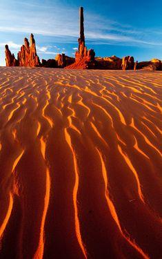 Totem Pole Dunes, Monument Valley, Arizona