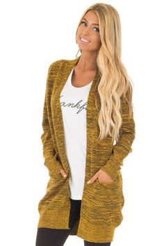 Lime Lush Boutique - Mustard Two Tone Long Sleeve Cardigan, $34.99 (https://www.limelush.com/mustard-two-tone-long-sleeve-cardigan/)