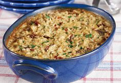 This simple-to-prepare, oven-baked risotto gets a wonderfully smooth and creamy flavor from cream of mushroom soup, Parmesan cheese and sun-dried tomatoes. (baked pasta with chicken ovens) Baked Risotto Recipes, Oven Baked Risotto, Chicken Risotto, Chicken Sausage, Rice Side Dishes, Pasta Dishes, Main Dishes, Risotto Dishes, Dog Food Recipes