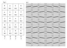 """Frazada DROPS en """"Delight"""" y """"Alpaca"""" con aplicaciones/cuadrados en diferentes patrones y texturas. ~ DROPS Design"""
