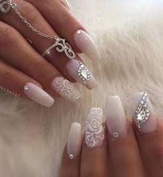 Resultado de imagem para nail art with rhinestones