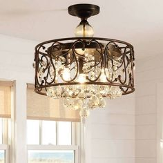 Modern Vintage Crystal Ceiling Lights rustic Iron Living Room Led Light Warm BedroomStudy Room Ceiling Lamps Home Lighting Iron Lamp, Chandelier, Crystal Lighting, Home Lighting, Modern Glass Pendant Light, Ceiling Lamp, Crystal Ceiling Light, Ceiling Lights, Lights