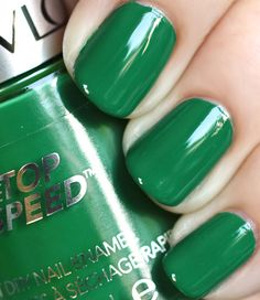 Emerald nails and from a drugstore brand. Love.