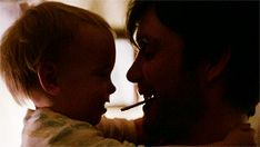 From Aloft. Cillian Murphy and baby.