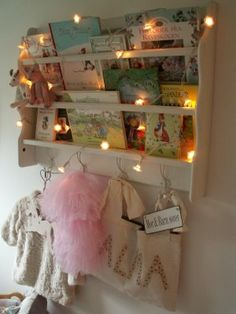 Fairy lights instantly add a bit of sparkle to any kid's room