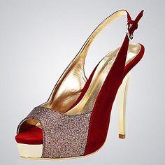talón de estilete peep toe zapatos de las sandalias de las mujeres del ante (más colores) – USD $ 37.99
