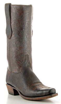 Mens Lucchese Classics Burnished Sueded Elephant Boots Chocolate #Gc9516