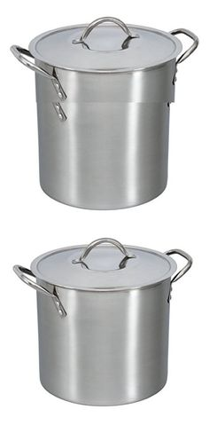 8 Quart Stockpot with Cover Lid, Stainless Steel, for Soups, Stews, Broths, Pastas and Sauces (1)