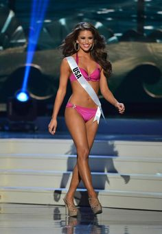 Miss USA Nia Sanchez has a black belt in tae kwon do, although she didn't wear it in the swimsuit competition.