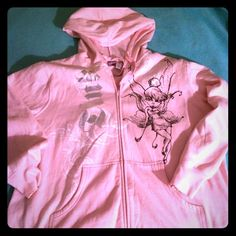 Tinker bell plus size hoody Near new  tinker bell  hoody with zip front  . Item is. Disney brand and comes from smoke  free home Disney Jackets & Coats