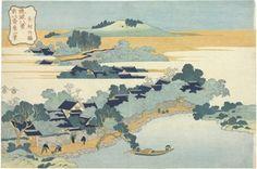 Katsushika Hokusai (1760-1849) Title: Kumemura chikuri (Bamboo grove of Kumemura village), from the series Ryukyu hakkei (Eight views of the Ryukyu Islands)