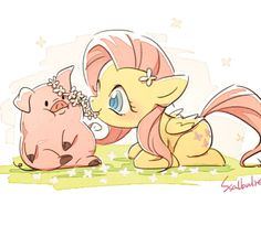 Most precious crossover in history! Awwww fluttershy would absolutely fall hooves over Heels for little waddles!! Cuz he's soo cute!!!!!!!! :3  #fluttershy #waddles #gfmlpfim #gfcrossover #cute #kawaii