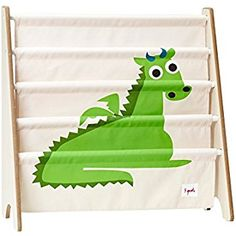 3 Sprouts Book Rack, Dragon/Green