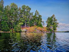 Acrylic on Gallery Canvas Lake Opeongo, Algonquin park