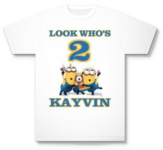 Personalized Despicable Me Minion Birthday T Shirt Any Name Age