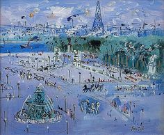 Place de la Concorde, Paris by Jean Dufy