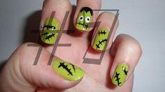 Nails Art Halloween Monster