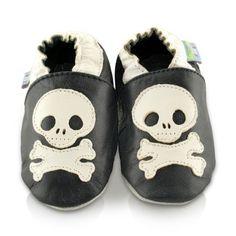 Snuggle Feet – Suaves Zapatos De Cuero Del Bebé Calavera (6-12 meses)