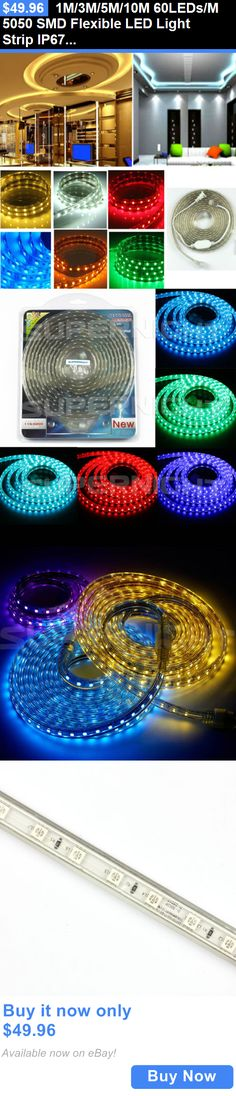 Lamps And Lighting: 1M/3M/5M/10M 60Leds/M 5050 Smd Flexible Led Light Strip Ip67 Waterproof Ac 110V BUY IT NOW ONLY: $49.96