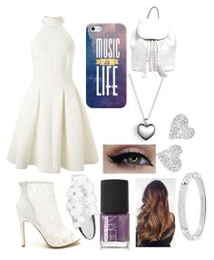 """""""White/music"""" by mgrove1121 ❤ liked on Polyvore featuring beauty, Miss Selfridge, Michael Kors, Pandora, Vivienne Westwood, Casetify, NARS Cosmetics, Full Tilt and Rebecca Minkoff"""