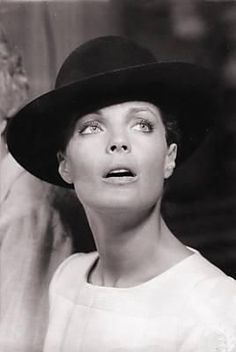 Romy Schneider, a simple black hat can make such a statement