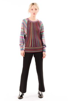 Gradient Oversize Knit Sweater
