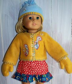 American Girl Doll Clothes  3 Piece Fleece by KingsLittleBlessings, $18.00