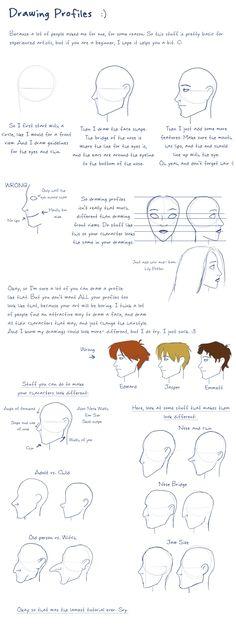 Drawing Profiles by =julvett on deviantART