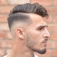 Low Fade vs High Fade Haircuts Guide) Low Skin Fade with Hard Part Comb Over - Colorful Toupee Hairs Hair Toupee, Mens Toupee, Low Skin Fade, High Fade Haircut, Tapered Hair, Comb Over, Hair And Beard Styles, Haircuts For Men, Hair Pieces