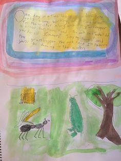 Waldorf Grade 2 Fables - Ant & Grasshopper Main Lesson