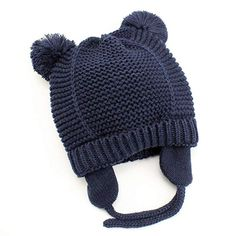 359800773f7 Baby Beanie Earflaps Hat - Infant Toddler Girls Boys Soft Warm Knit Hat Kids  Winter Hat