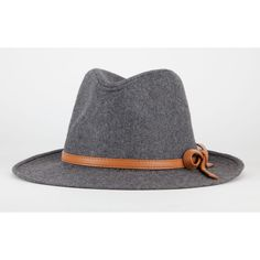 Banded Wool Fedora ($16) ❤ liked on Polyvore