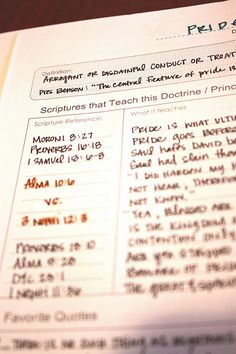 Scripture Journal--this woman is a wonderful resource for studying... This is a link to a Mormon website, but I like the idea of making one of my own like this for my bible study time. Really cool idea! :)